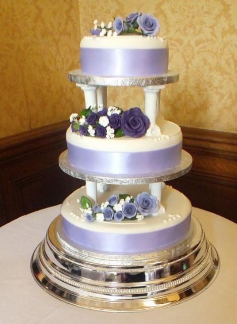 wedding cakes with columns 3 tier lavender and white wedding cake pillars between 26007
