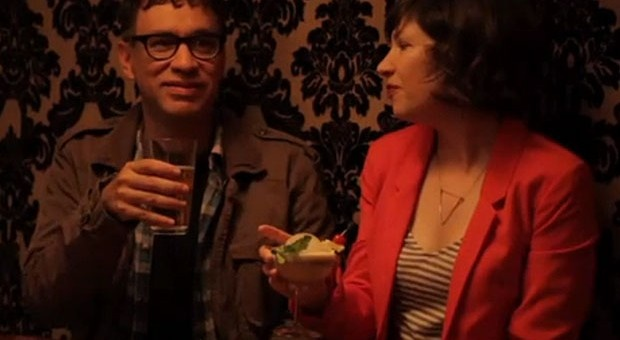 "Episode 1: Mixology:    Local artisan curators Lisa and Bryce realize that they can pickle everything; Fred helps Carrie chase a romantic mixologist (Andy Samberg) who forgets his roots when he moves from Portland to LA; Fred and Carrie stop to eat at a theme restaurant with a difficult waiter (Kumail Nanjiani); Kath and Dave's emergency signals are tested when they go river rafting; Feminist shopkeepers Toni and Candice teach an A/C repairman about the ""phallus"" and ""opposite of a phallus"" inside all of us.: Ifc Portlandia, Info Seasons, Carrie Chase, Fred Help, Episode Info, Help Carrie, Portlandia Ep 201 Mixologist, Rivers, Restaurant"