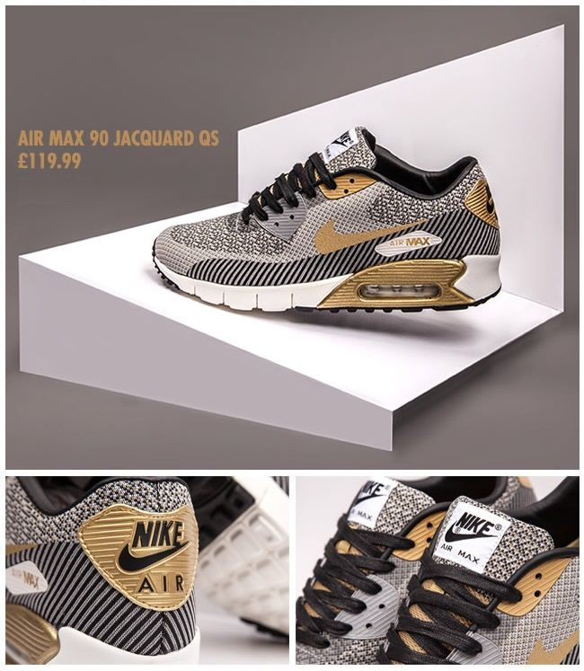 Nike Air Max 90 Jacquard QS: Gold Hypervenom