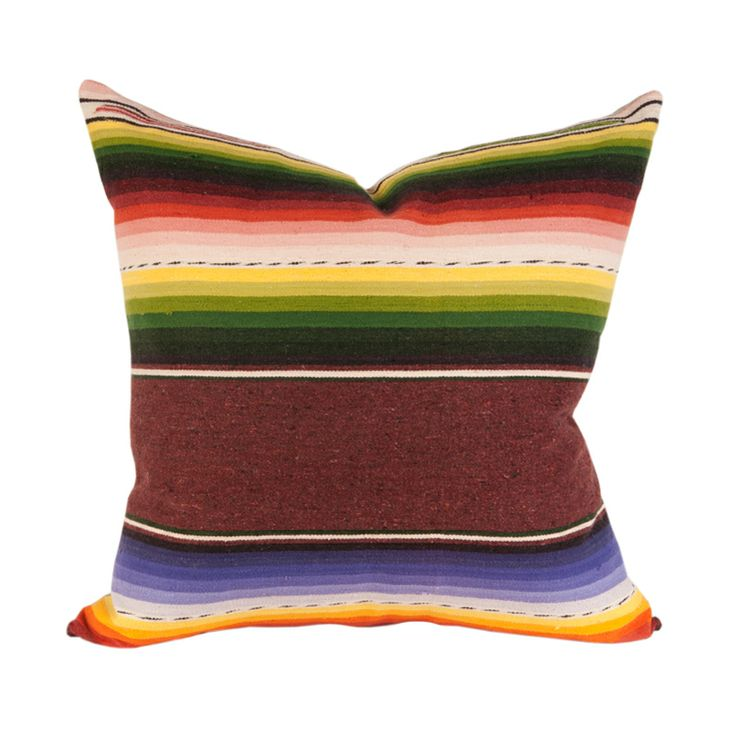 Handwoven Vintage Serape Pillow www.houseofcindy.com