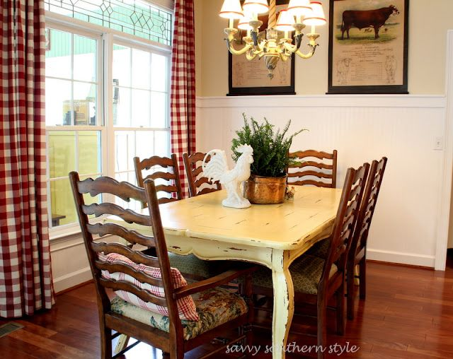 Cute country dining room home pinterest for Cute dining room decor