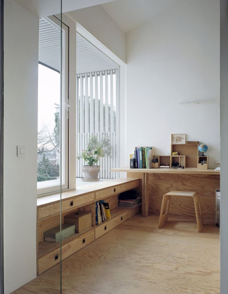 shelf under windows!! A Suspended Room by NeM Architectes, Gentilly, France - 2012