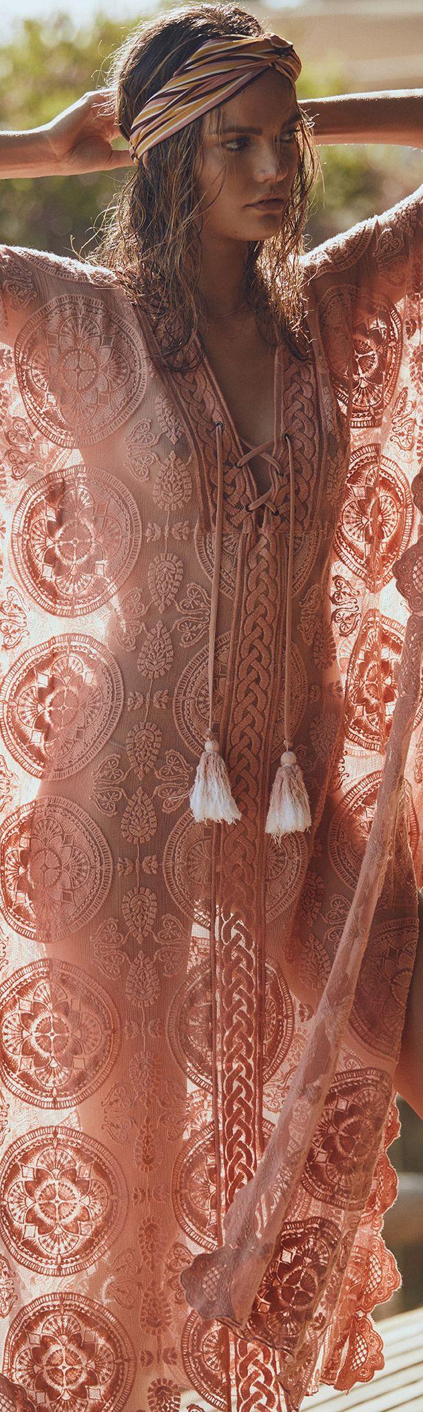 Bohemian kaftan and head Wrap make a gorgeous look Boho Style, Boho Accessories