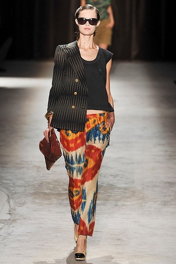 dries van noten ikat | Oh, Dries / ikat on the runway, Dries van Noten 2010 RTW