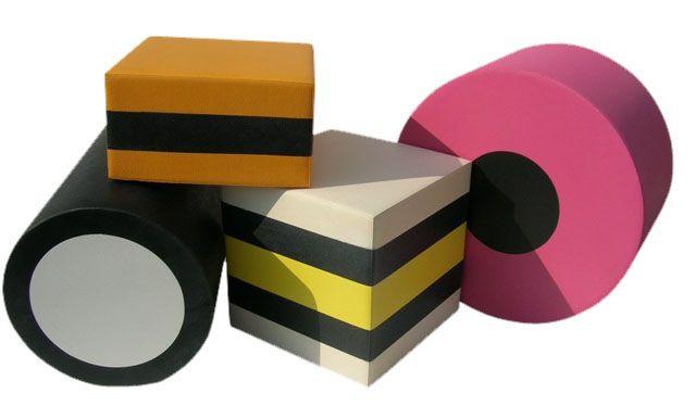 Engelse drop van vierkanten en ronde dozen makkelijk te maken