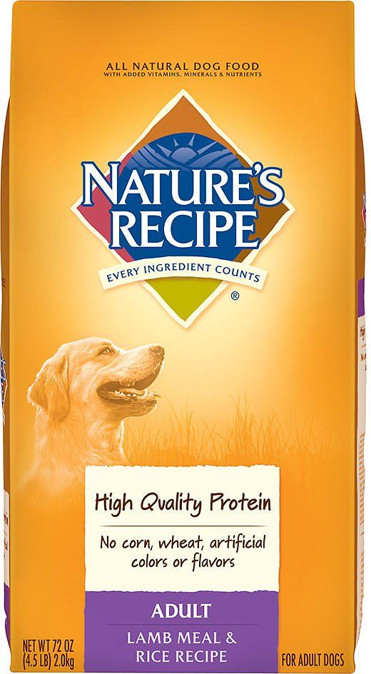 Nature's Recipe Adult Lamb Meal & Rice Recipe Dry Dog Food, 4.5-lb bag I hope it good dog food and also it cheap price $9.99