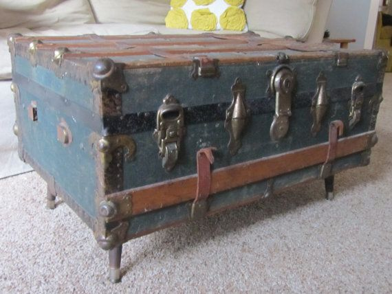 Find This Pin And More On Trunk Room Inspirations Trunk Coffee Table