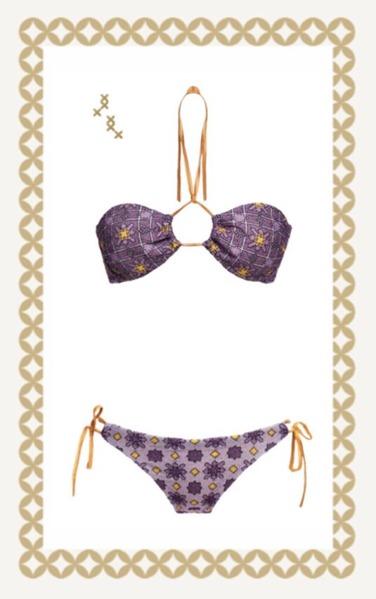 MITOS Sahra bandeau in Purple  #mitoswimwear #purple #bandeau #summer #sea #beach #moroccan #mitos