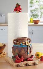 chili pepper decor | ... Pepper Chili Fiesta Paper Towel Holder Kitchen Southwest Accent Decor