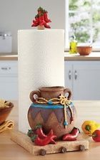 chili pepper decor | ... Pepper Chili Fiesta Paper Towel Holder Kitchen Southwest Accent Decor