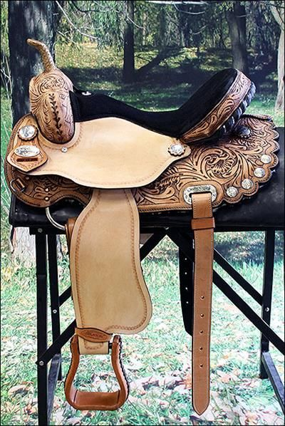 HSTT316RODB-HILASON WESTERN LEATHER FLEX-TREE BARREL RACING TRAIL RIDING HORSE SADDLE