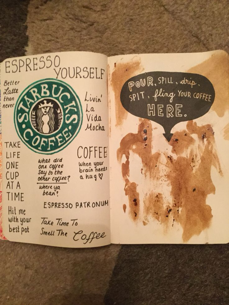 Coffee page✅ wreck this journal