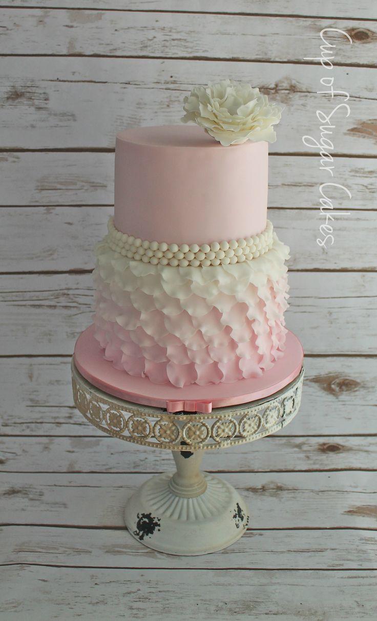 shabby chic bridal shower cakes%0A Shabby Chic Baby Shower Cake  cake by Nichole Stiglich Cake Design