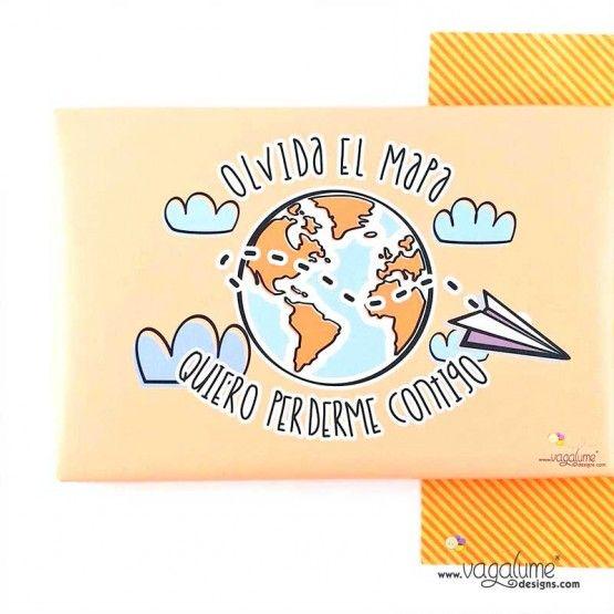 """LIENZO """"OLVIDA EL MAPA QUIERO PERDERME CONTIGO""""  Referencia li-010ESGDBT  Condición: Nuevo producto  Contigo voy a la Conchinchina y lo grito a los cuatro vientos. Disponible en 3 opciones:  Español: """"Olvida el mapa, quiero perderme contigo"""".  Inglés: """"Leave the map, and let's get lost"""".  Portugués: """"Esquece o mapa, quero perder-me contigo""""."""