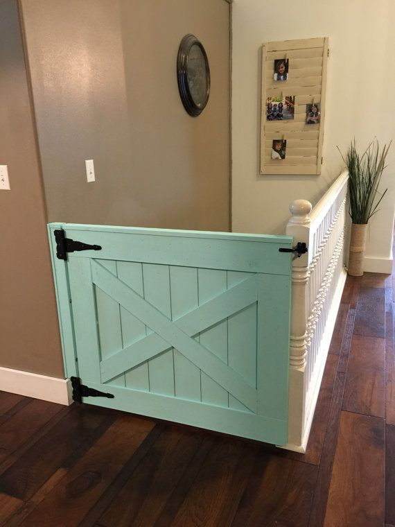 Why does a baby proof gate have to be plain and boring? Try creating this stunning barn door to protect your little ones from the stairs whilst keeping your house fabulous