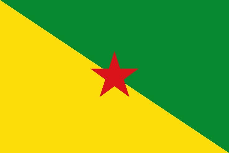 Flag of French Guiana - Bandeiras da América do Sul – Wikipédia, a enciclopédia livre