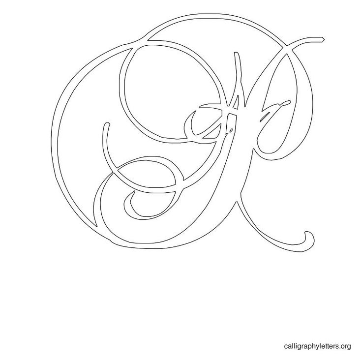 Printable calligraphy letter stencils