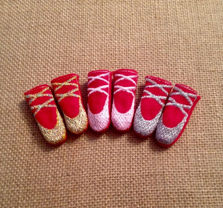 Elf Ballerina Shoes for your favorite Elf or 12 inch Fashion Doll by LoveOnANeedle on Etsy