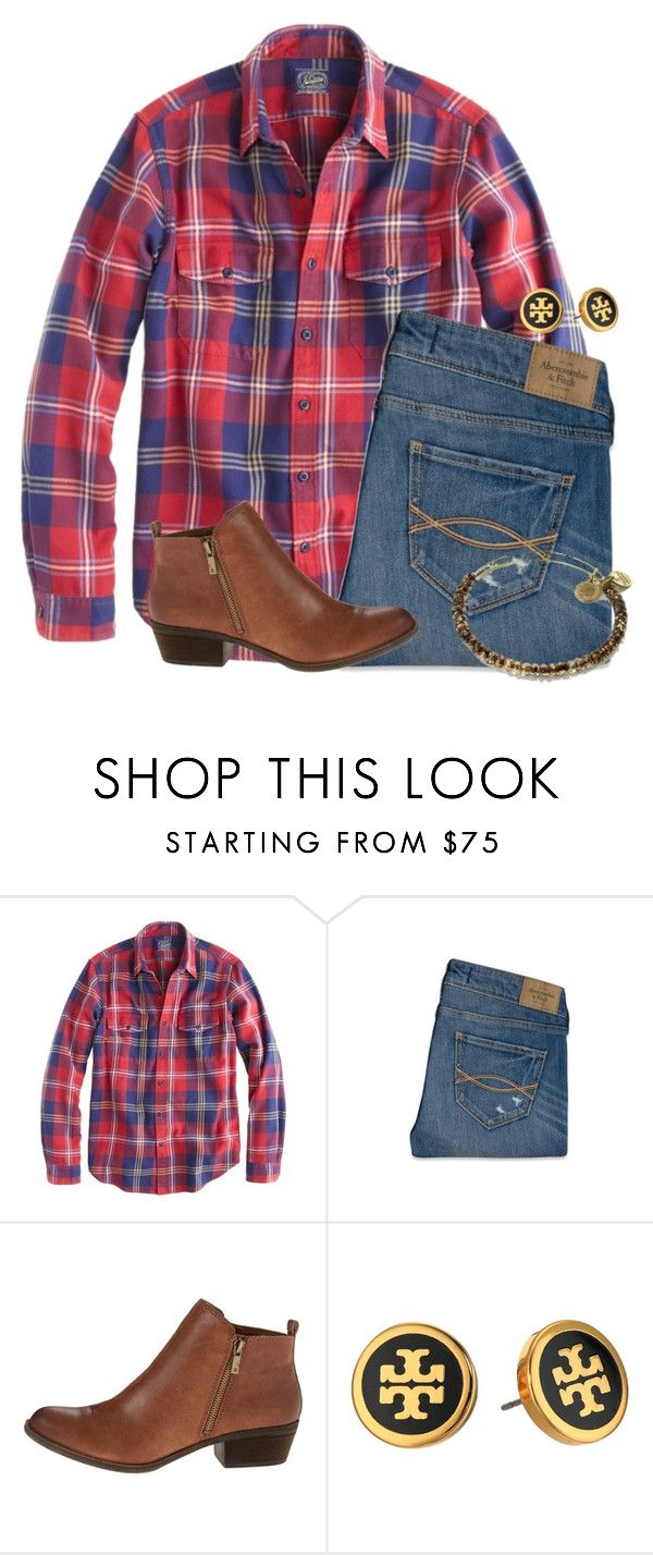 """""""Just went Christmas shopping!!"""" by flroasburn ❤ liked on Polyvore featuring J.Crew, Abercrombie & Fitch, Lucky Brand, Tory Burch and Alex and Ani"""