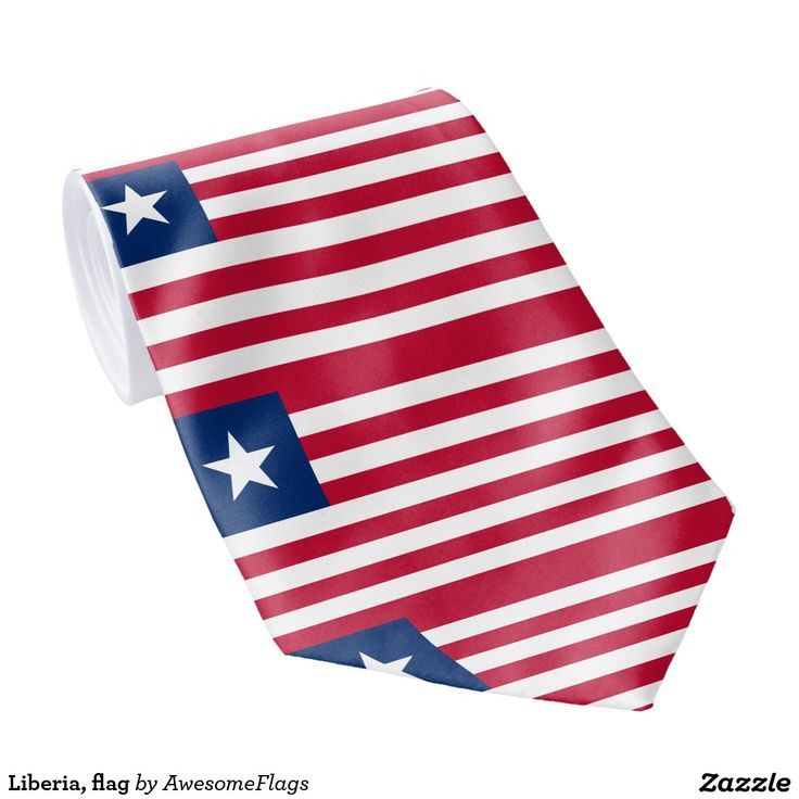 Liberia, flag tie