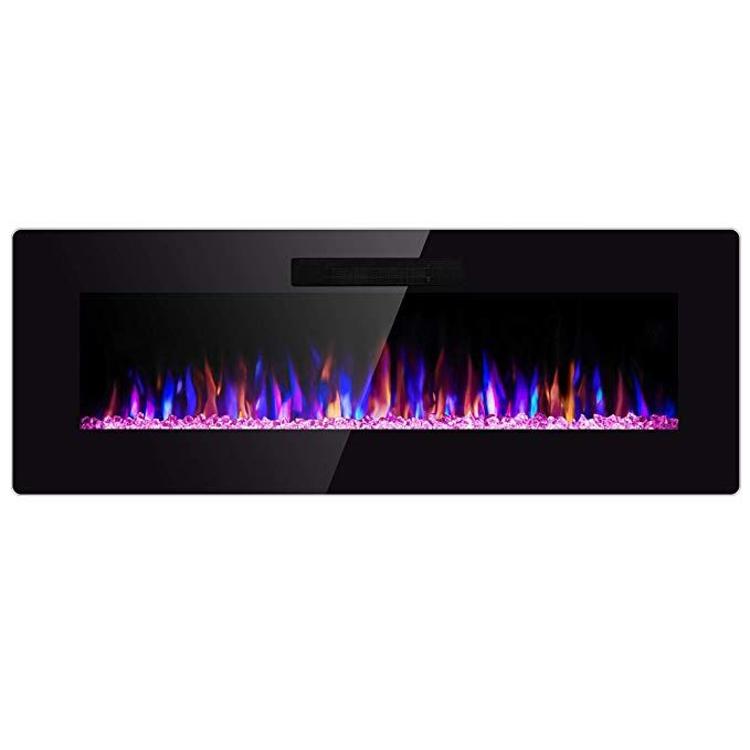 Amazon Com Sunlei 42 Electric Fireplace In Wall Recessed Wall
