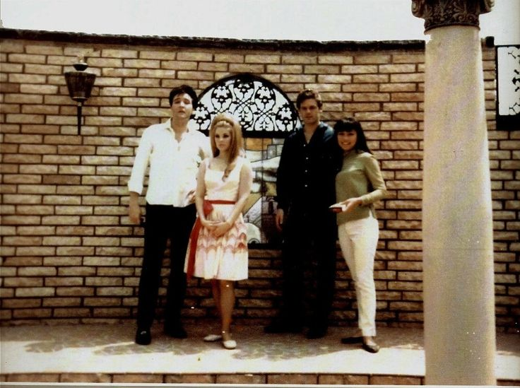 Elvis And Priscilla With Jerry Schilling And His