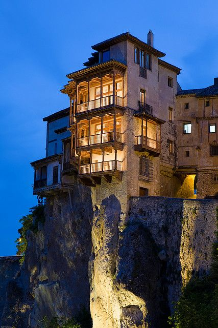 Casas Colgadas in Cuenca, Spain.  I remember going to a house party at one of these & running around outside- such a good memory.