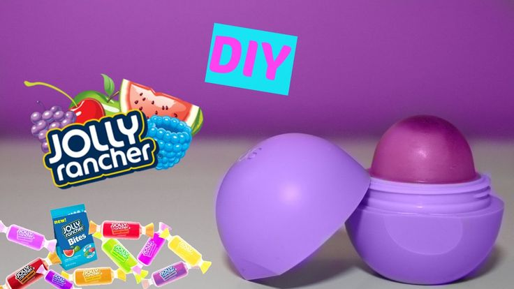 DIY EOS out of JOLLY RANCHERS! Make Lip Balm Out Of Candy!