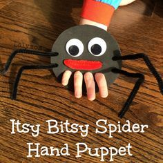 Itsy Bitsy Spider Hand and Finger Puppet from Lalymom (pinned by Super Simple Songs) #educational #resources for #children