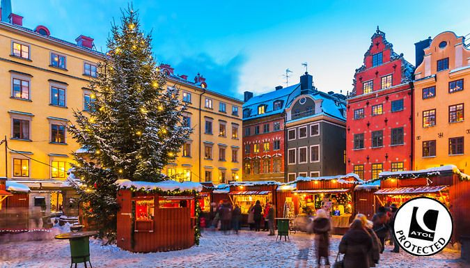 UK Holidays: Stockholm, Sweden: 2-3nt Christmas Market Break With Hotel, Breakfast & Flights - Up to 53% Off for just: £119.00 Have a very merry break and explore the Nordic Christmas markets in Stockholm.      Stay at the ibis Styles Stockholm Odenplan Hotel with free Wi-Fi and breakfast      Head to the Old Town and stroll along the harbourfront to find the towering tree      The main...