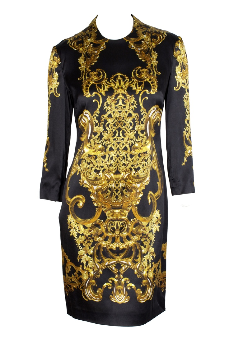 unique and magnificent black and gold Just Cavallii dress!