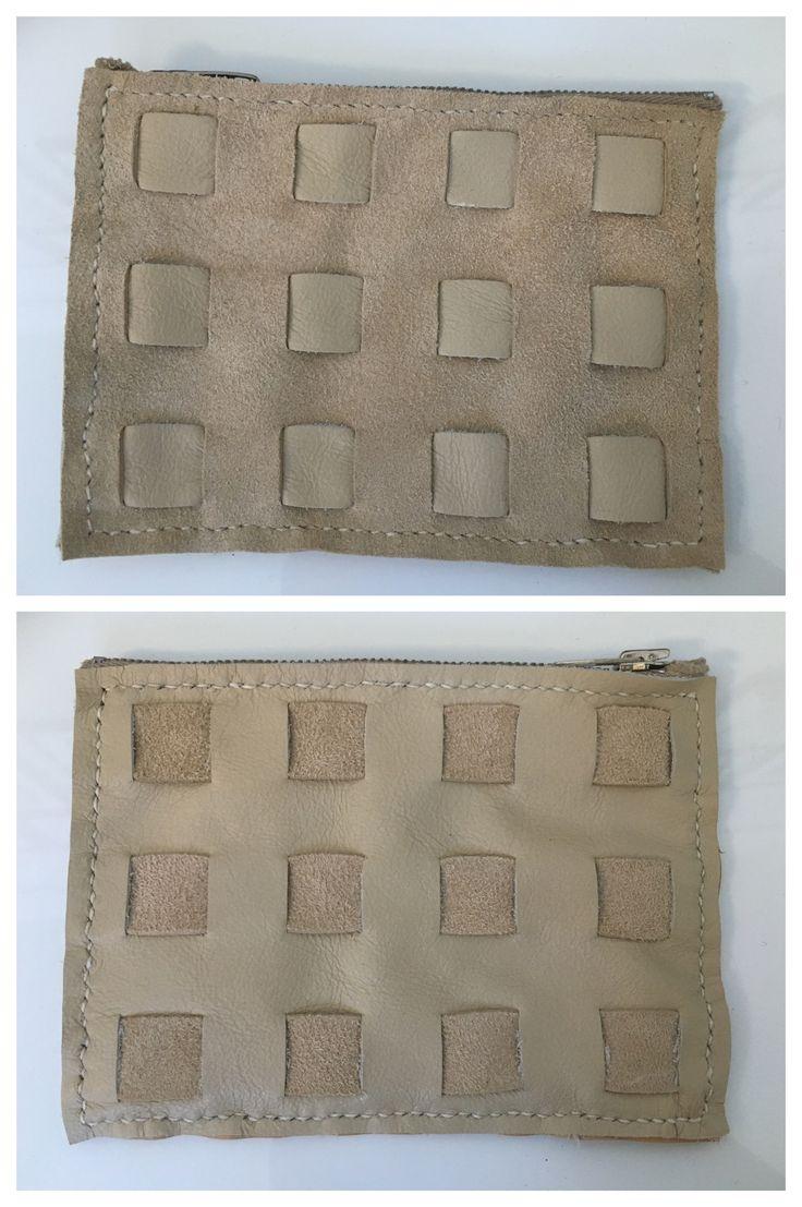 To slags skind flettet med hver sin side udad, for at give struktur