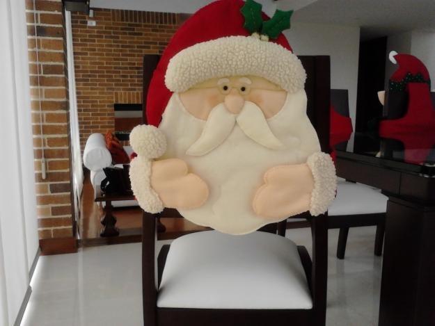 que lindo papa noel para decorar nuestras silla de comedor