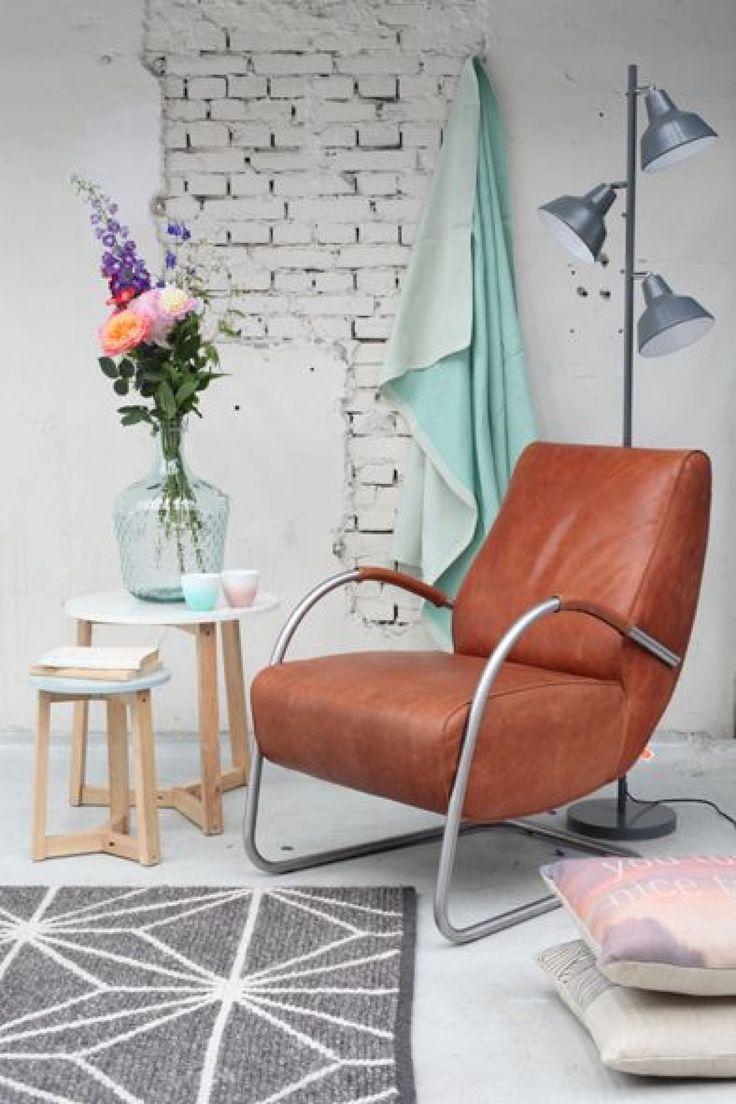 Jess Design Hunk fauteuil bruin