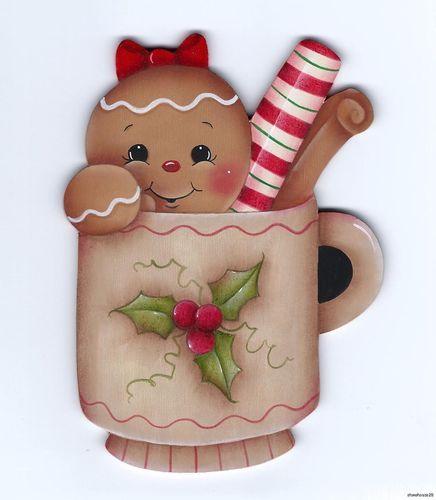 en taza navideña