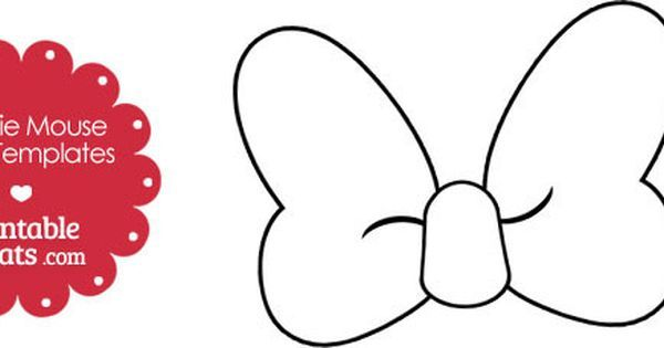 free-printable-minnie-mouse-bow-template   baby stuff ...