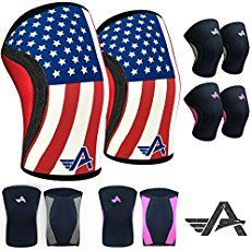 Athlos Fitness Knee Sleeves (Pair) Compression Sleeve Support for CrossFit, Weightlifting, and Powerlifting - 5MM Neoprene List Price:	$70.00 Price:	$64.99 Sale:	$39.99  You Save:	$30.01 (42%)