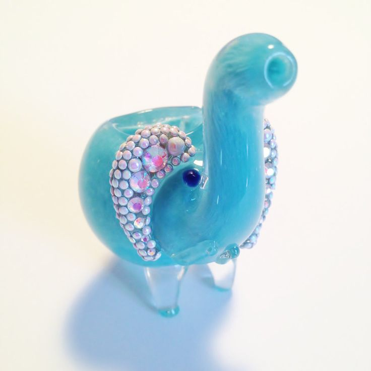 Sparkles the Elephant- Blue Baby Elephant Glass Pipe with AB Rhinestones, AB Pearls, and AB Metal Bow Charm. by LuxeGlassPipes on Etsy https://www.etsy.com/listing/228771163/sparkles-the-elephant-blue-baby-elephant
