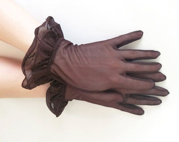 Guanti vintage marrone guanti guanti pura maglia guanti arruffato guanti guanto taglia fantasia guanti guanti guanti corti donna 6