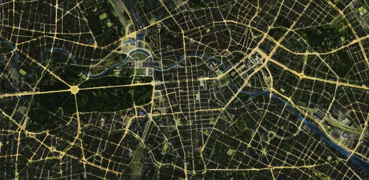 det is berlin bei nacht poster - ausberlin - das kaufhaus für produkte aus berlin