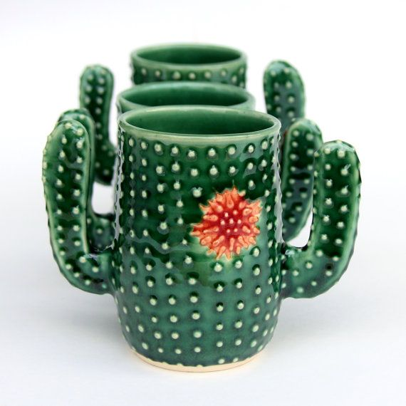 Taza de té café de taza  taza suculenta  cactus  cerámica
