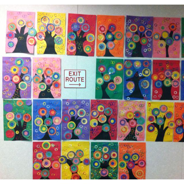 Kandinsky inspired abstract art. 2nd grade.