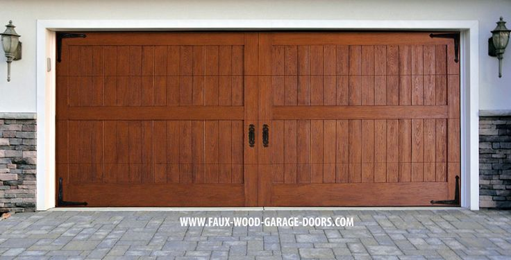 86 best faux wood garage doors images on pinterest wood for 18 x 10 garage door