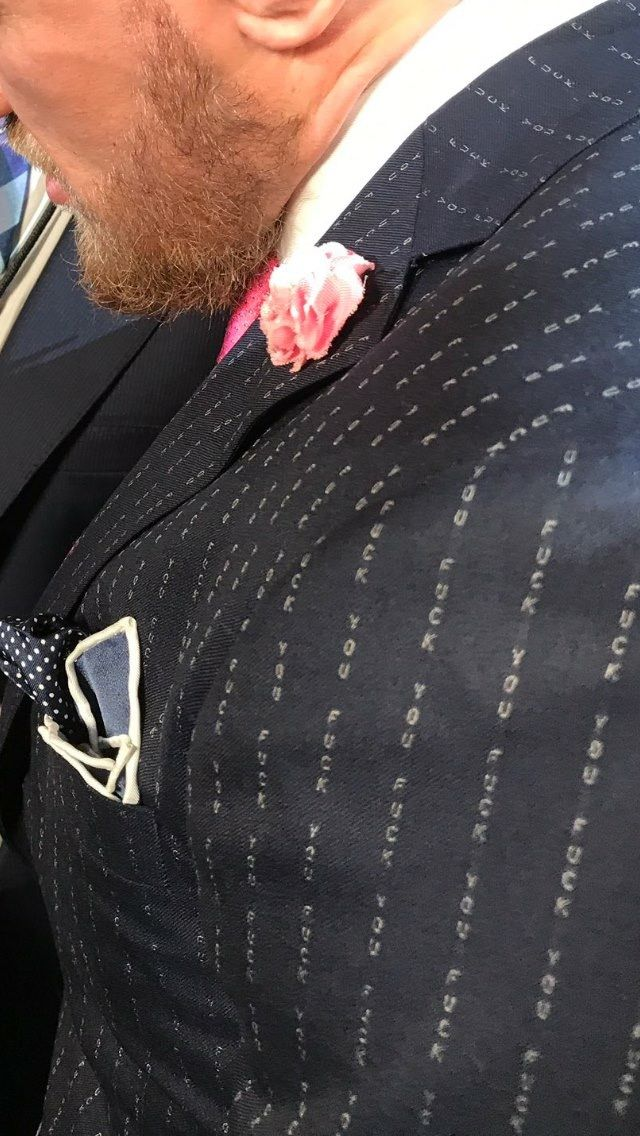 Conor McGregor's suit at the Mayweather/McGregor LA Press Tour