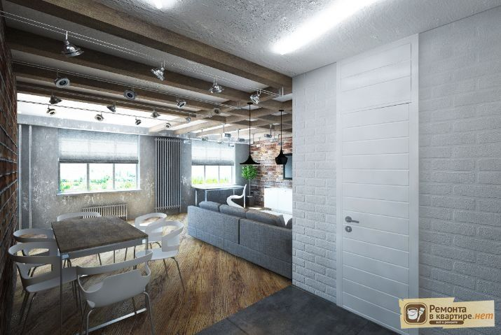 гостиная в стиле лофт фото - Поиск в Google