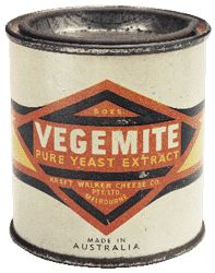 VEGEMITE - was invented in 1922 at the Fred Walker Cheese Company, in Melbourne, Australia. They wanted to find ways of using vitamin rich brewer's yeast (a byproduct of brewing beer). Dr. Cyril Callister, was the actual inventor of Vegemite. After a national naming competition with a prize of £50, the name Vegemite was picked and the product hit the shelves ~ v@e.
