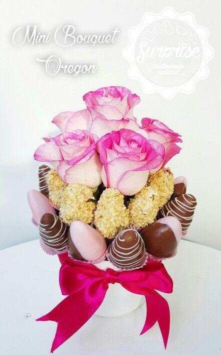 Rosas fresas chocolate