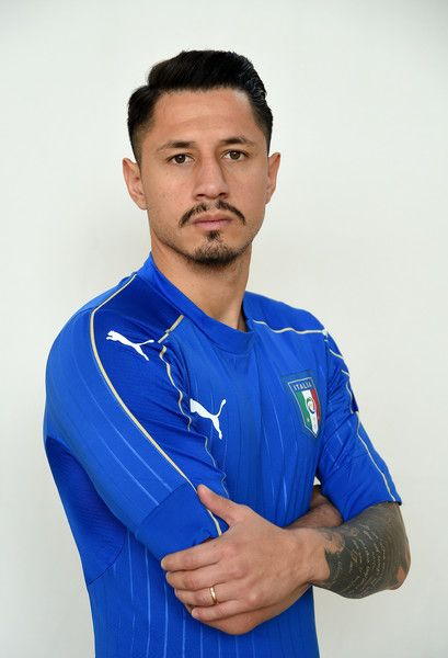 Gianluca Lapadula of Italy poses during the official portrait session prior to the training session at the club's training ground  at Coverciano on November 8, 2016 in Florence, Italy.