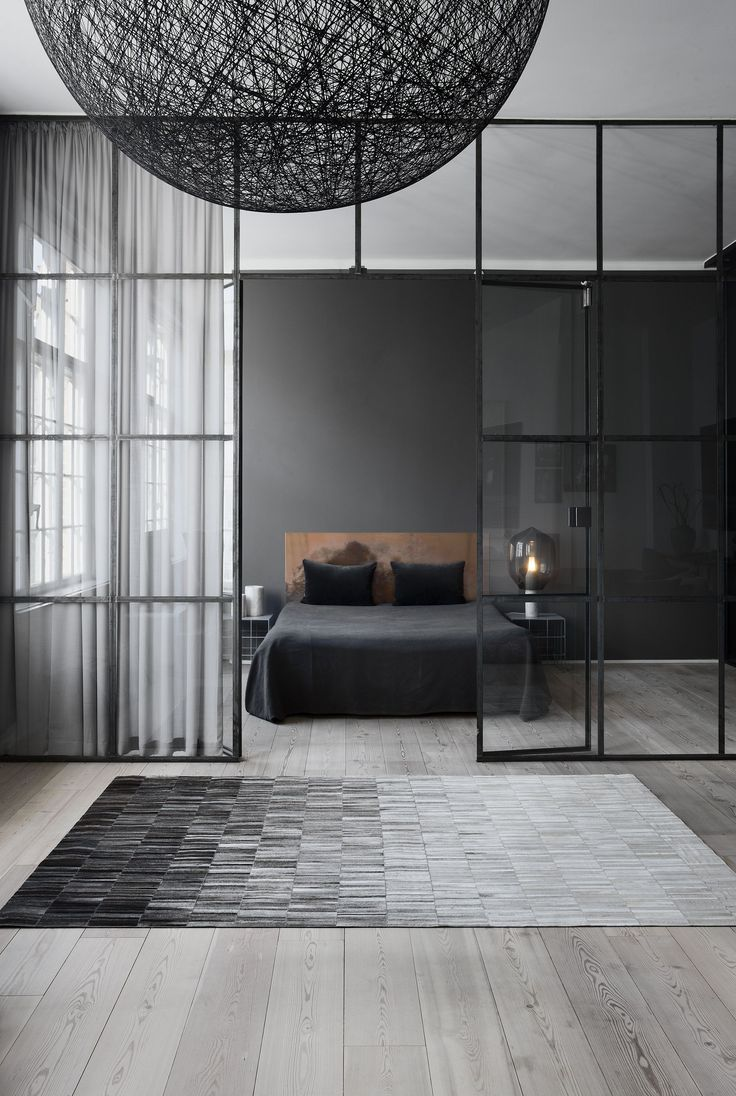 Master Bedroom Interior Design | Grey color is an ideal color for contemporary interiors. www.masterbedroomideas.eu