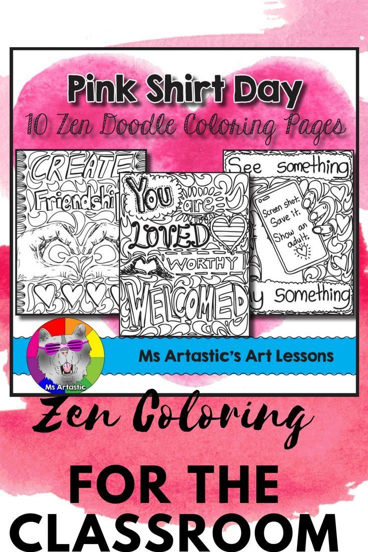 Promote kindness and anti-bully awareness in your classroom with this Pink Shirt Day resources! Perfect for any Kindness, Diversity, or Respect themed days/week/month at your school or in your classroom. Mindful, zen, coloring sheets for all ages that can be used leading up to Pink Shirt Day to encourage kindness, diversity, and respect, as well as bring awareness to bullying situations such as cyber-bullying.